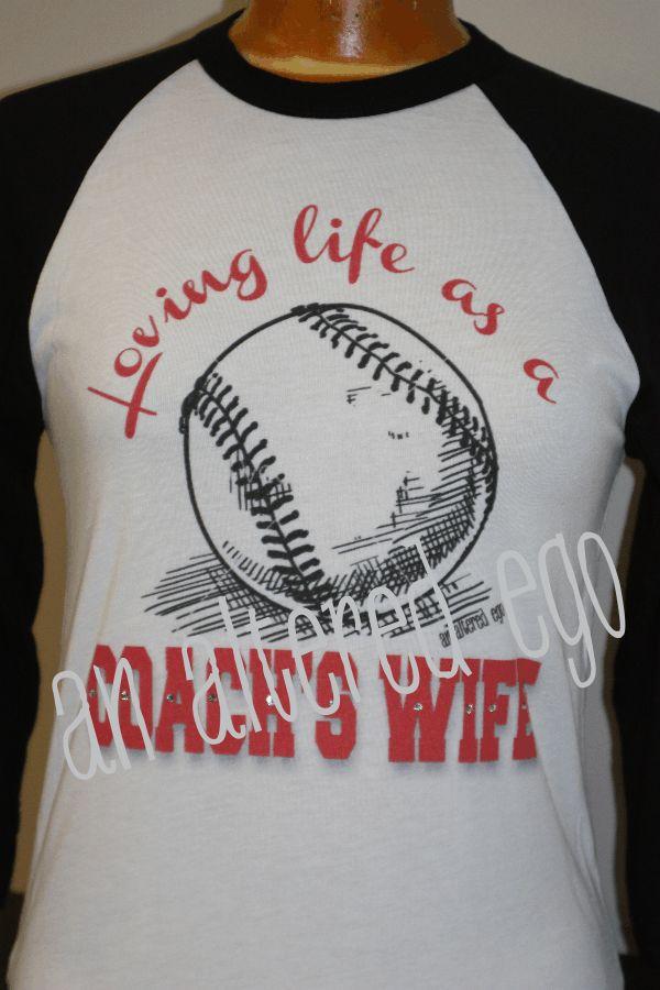 Loving Life as a BASEBALL Coach's Wife Raglan-coach wife  baseball  mom  raglan