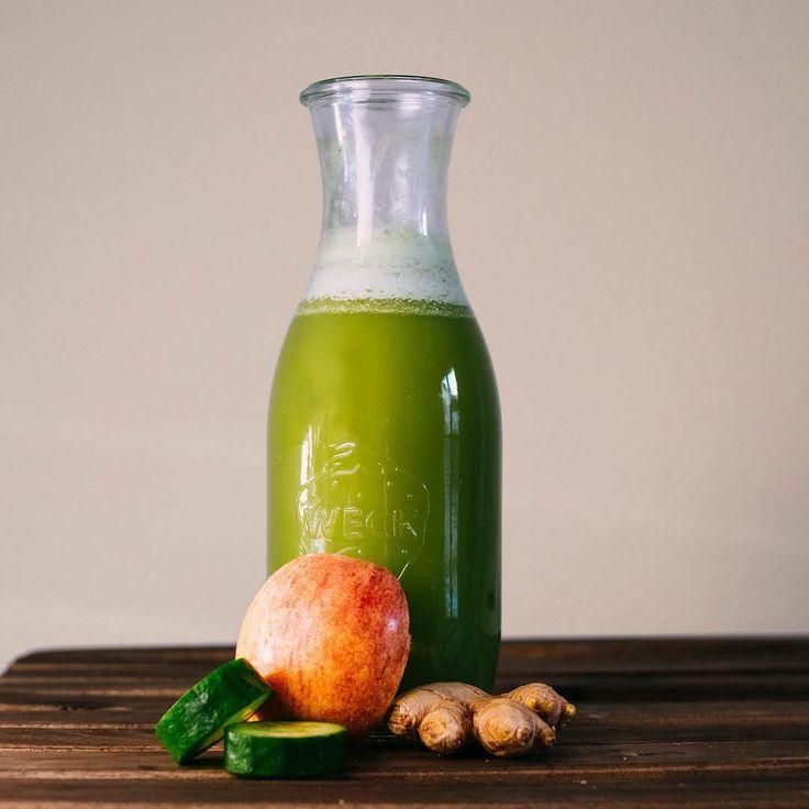 greenjuice #green #juice #greenjuice #healthy #apple #ginger #cucumber