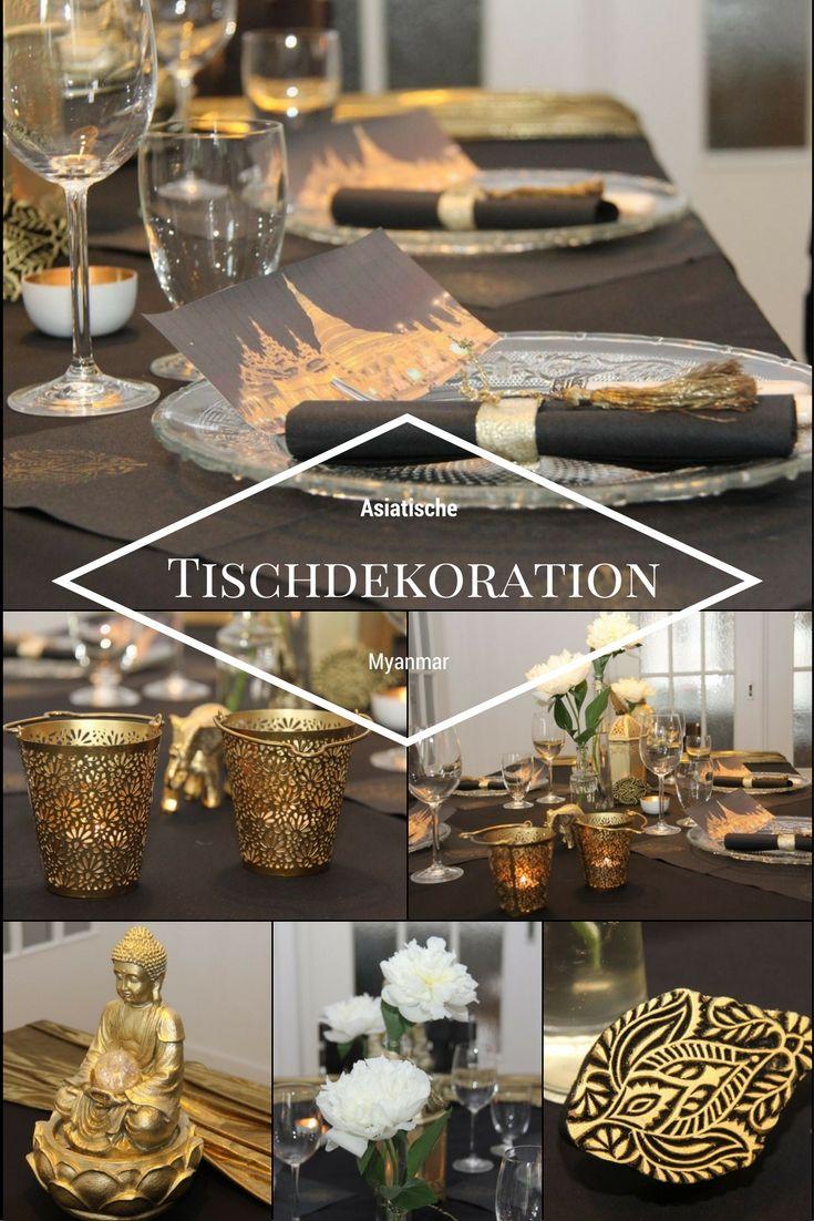 Asiatische tischdekoration myanmar tischdekoration landestypisch dekoration tisch und - Asiatische dekoration ...