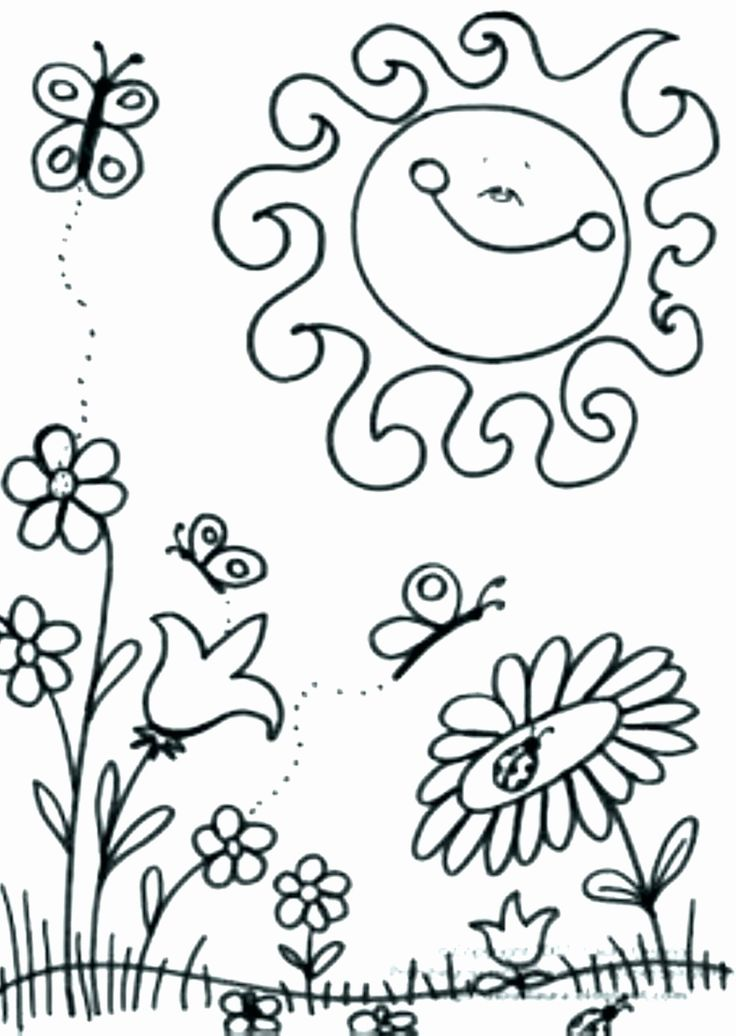 Preschool Coloring Pages Spring in 2020 Spring coloring
