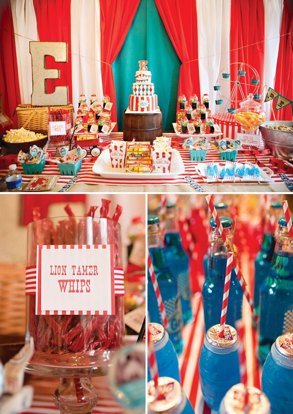 Big Top Vintage Circus First Birthday Party