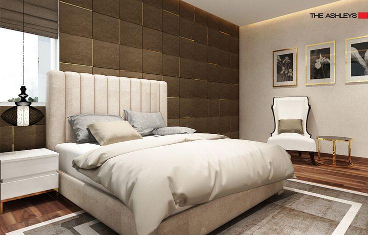 theashleys bling bedroom design has minimalistic feel
