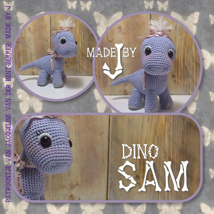 Haak kooppatroon van dino Sam kan je een jongen maar ook een meisje haken.