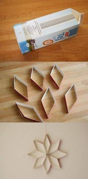 petits flocons avec une brique de lait carrée