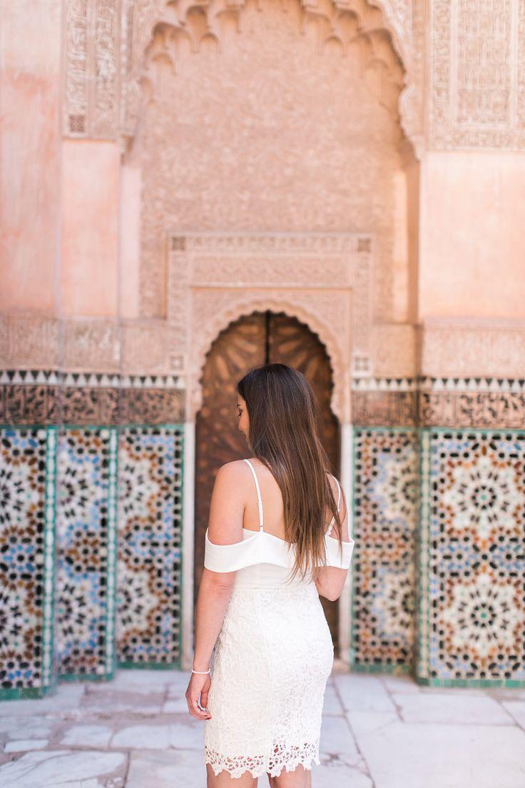 Destination wedding in Marrakech   Marrakech wedding photographer  Medarsa Ben Yussuef