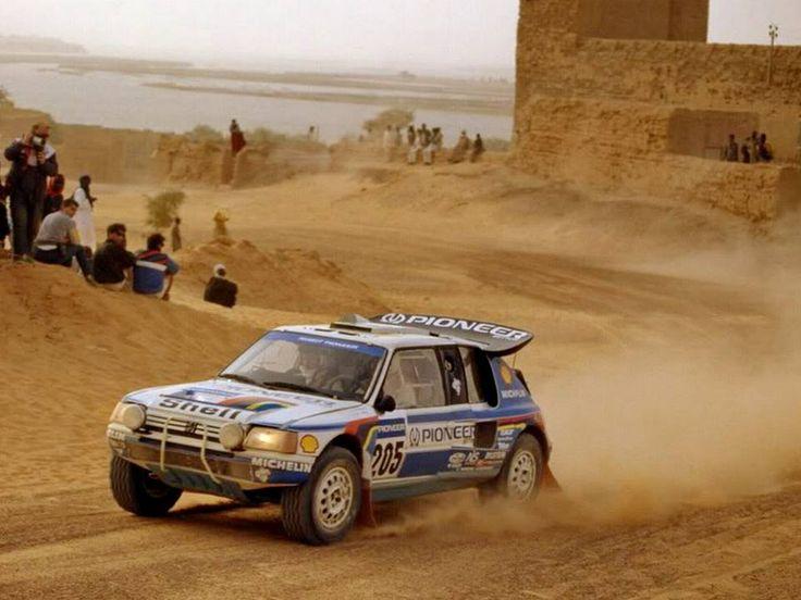 Peugeot 205 Turbo 16, Dakar Rally 1989.