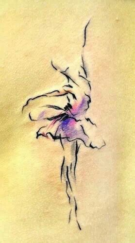 Water color ink love how the ballerinas skirt looks like delicate flower petals