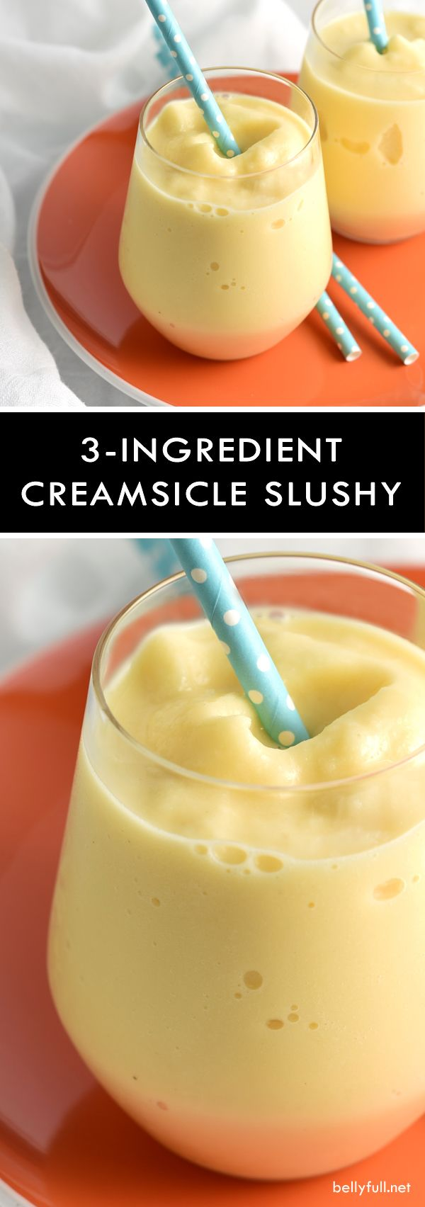 This creamsicle slushy is a healthier version of the popular summer popsicle but just as delicious and refreshing!