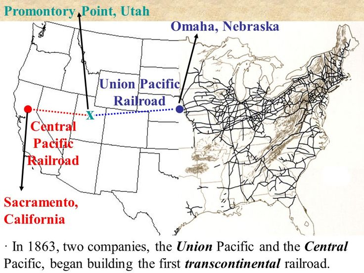 Transcontinental Railroad PowerPoint Presentation Key Terms and People: Transcontinental Railroad Central Pacific Railroad Union Pacific Railroad Promontory Point, UT Chinese Laborers  Multimedia: Video - Transcontinental Railroad (3:27)  http://mrberlin.com/transcontinentalrailroad.aspx