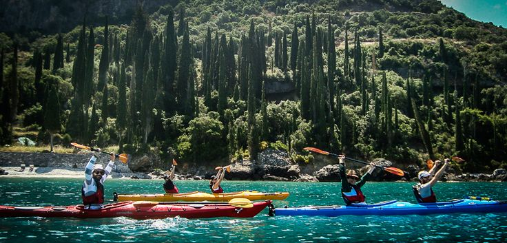 Water Sports around Zen Rocks Mani retreat: Sea Kayaking, Snorkeling, Swimming in the blue waters of the Mediterranean Sea.