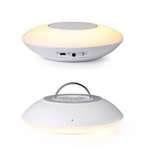 KEYNICE Lampe d'ambiance intelligente Haut-parleur Bluetooth 6 couleurs Atmosphère Lampe Lampe de réveil 3 Niveaux de luminosité Lampe du…