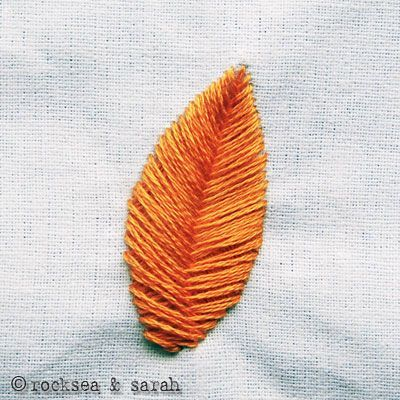 Sarahu0026#39;s Hand Embroidery Tutorials- Raised Fishbone Stitch- This Stitch Is Typically Used For ...