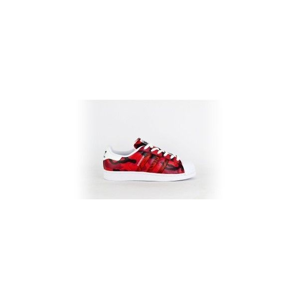 Adidas Superstar Damen Rose weiß rot f-low-s dein Sneaker-Store ❤ liked on Polyvore featuring shoes, sneakers, rose shoes, adidas trainers, adidas footwear, adidas shoes and adidas sneakers