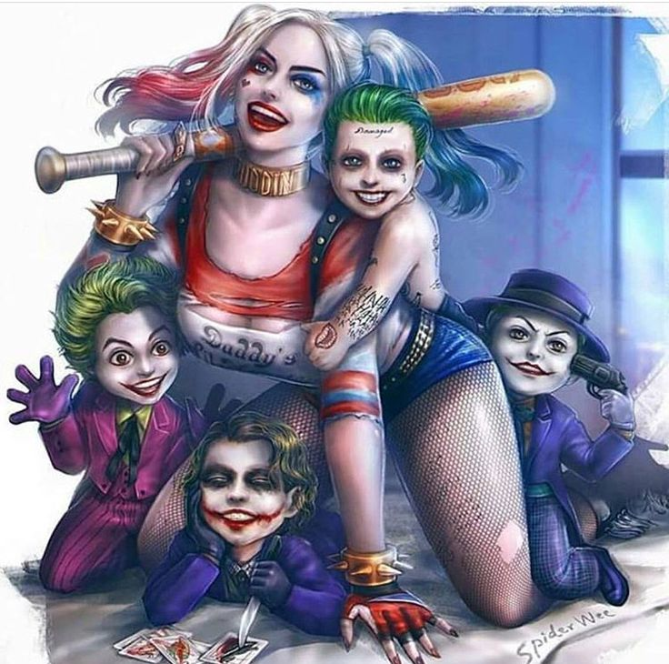 Harley Quinn and Mini Jokers