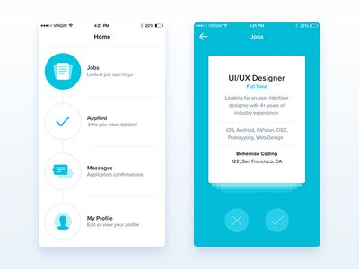 9 best images about Design on Pinterest App design, Ui kit and - best job search apps
