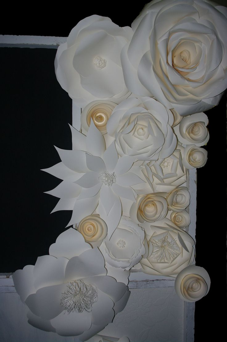 Paper flower backdrop, By MiaBella Paper Productions