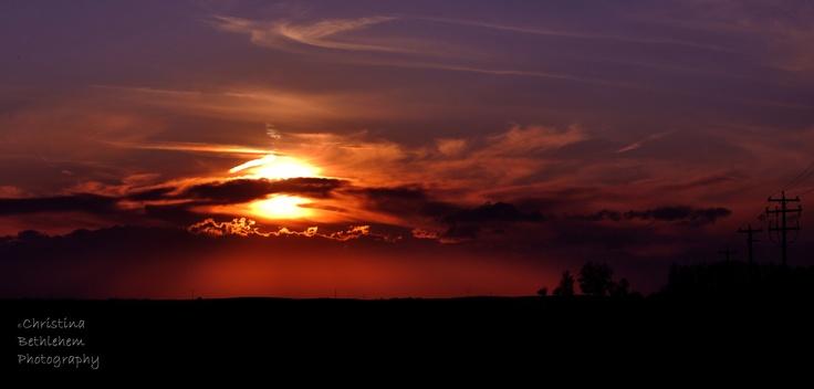 Fall 2011 Sunset Near Carseland, AB