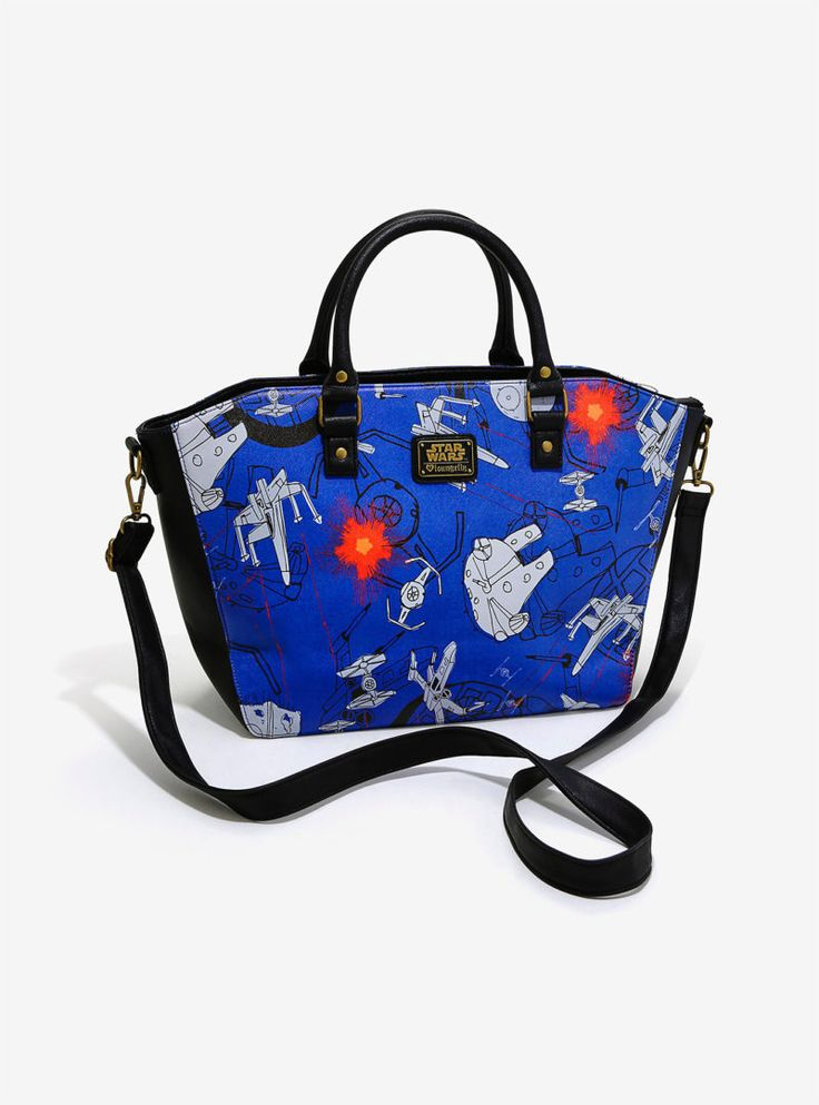 Loungefly x Star Wars scribble art satchel available at Box Lunch