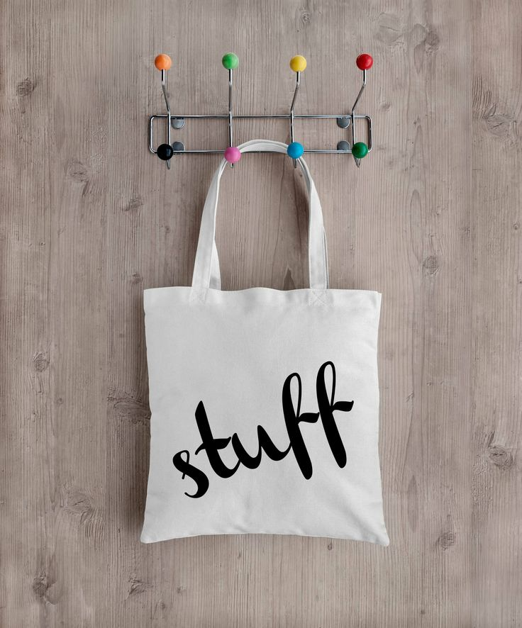 stuff Tote bag, Market Bag, Recycled, Eco Friendly,  School bag, Environmentally friendly, by PepperDoodles on Etsy