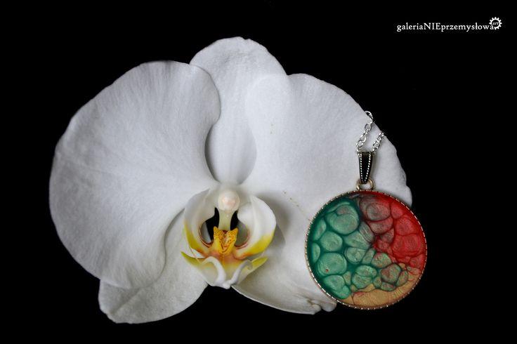 pebeo wisior necklet malowany farby kolorowy