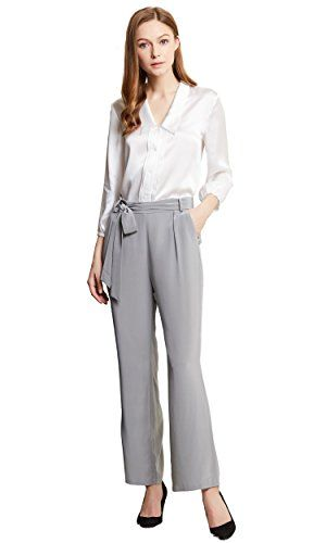 Lilysilk Women S Concise Work Wear Silk Shirt And Trousers 100 Pure Size L Office Dress Outfits