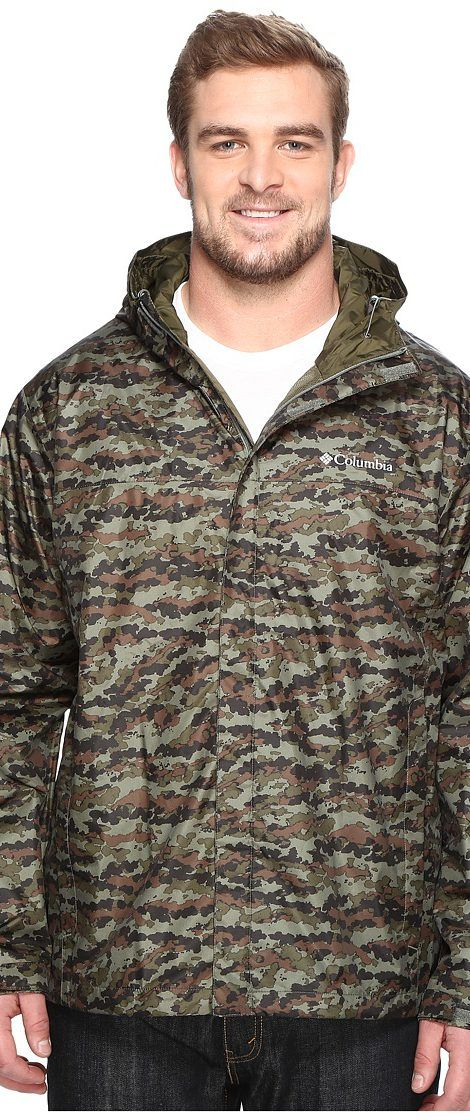 Columbia Big Tall Watertight Printed Jacket (Cypress Camo) Men's Coat - Columbia, Big Tall Watertight Printed Jacket, 1656264-316, Apparel Top Coat, Coat, Top, Apparel, Clothes Clothing, Gift - Outfit Ideas And Street Style 2017