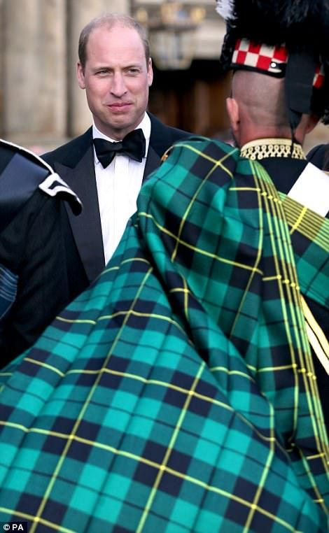 The Duke of Cambridge at a special Edinburgh Tattoo performance on 8/16/2017
