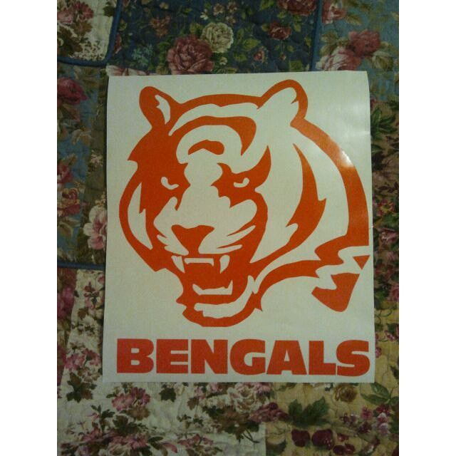New Cincinatti Bengals Cornhole Decals - Ready To Apply 5 Year Outdoor Vinyl Listing in the Other,Sporting Goods Category on eBid United States | 141366705
