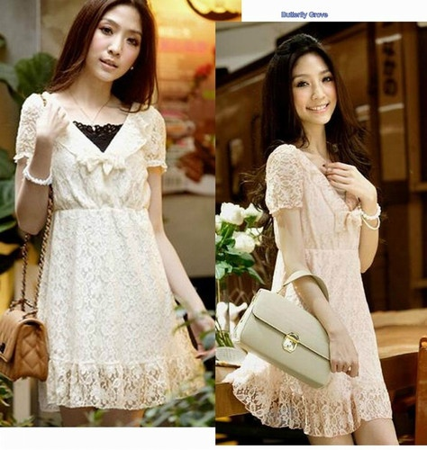 NEW Womens Korean Japan Fashion Lace Cocktail DRESSES