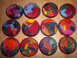 Rainbow Crayon Cakes