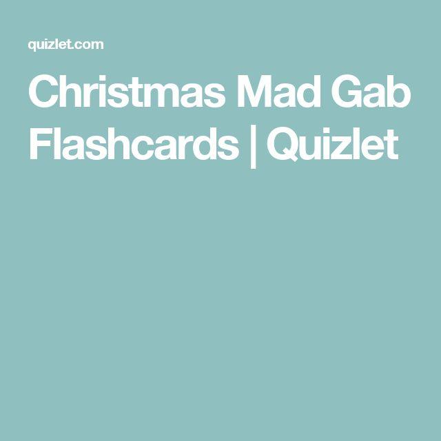 Christmas Mad Gab Flashcards | Quizlet