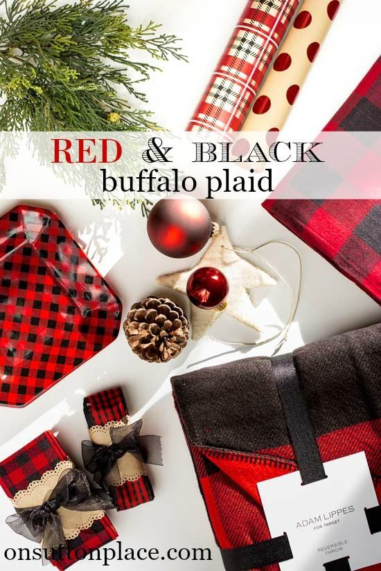 Red and Black Buffalo Plaid Christmas   Ideas and inspiration for adding this madly popular plaid to your Christmas decor   shopping guide links included!