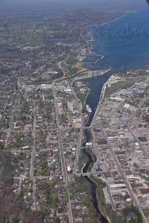 Aerial Photo of Owen Sound, Ontario - Facing North