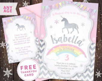 Einhorn Einladung, Unicorn Party, Ersten Geburtstag Einladung, Glitter  Einladung, Erster