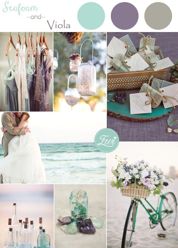 vert écume de mer et de plage alto pourpres thème couleur de mariage idées