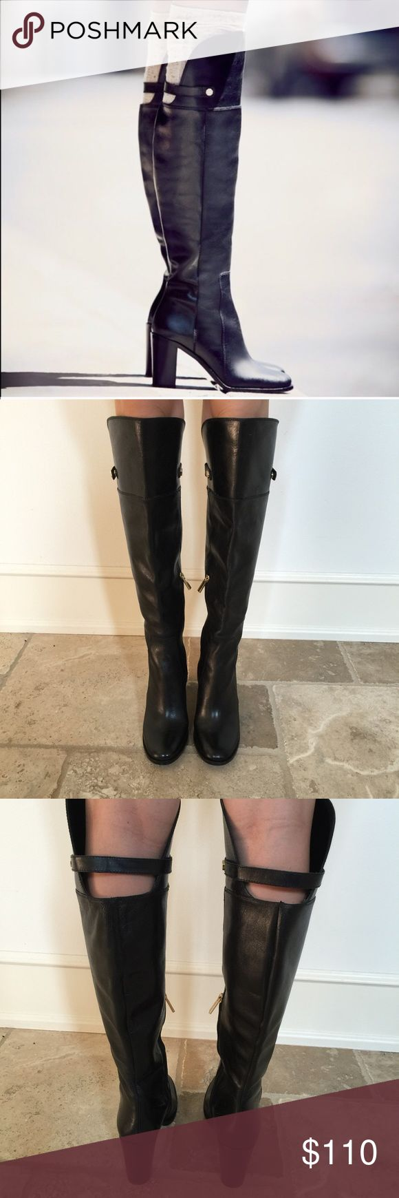 Louise et Cie Over the knee Boots NWOT *SALE* Beautiful leather black knee high boots! Perfect for fall!!! Never worn and are in new condition! Jeans can fit inside of them. Gold hardware and the leather is very nice Purchased from Nordstrom. No trades Louise et Cie Shoes Over the Knee Boots