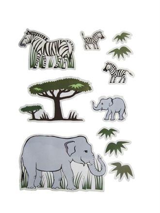 Stickers til væg - Elefanter