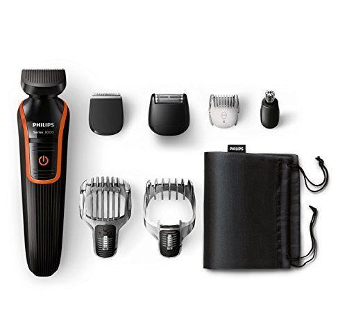 Philips QG3341/16 Tondeuse multi-styles Series 3000 7 en 1 + housse de rangement: PHILIPSMultigroom series 3000Tondeuse barbe et cheveux 7…