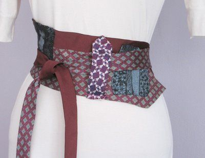 obi-belts from recycled neckties: