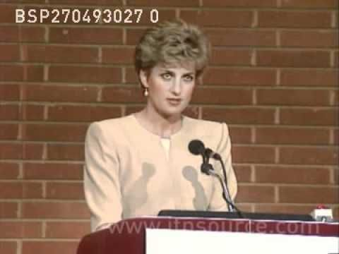 Princess Diana's speech on eating disorders.  [Some are now saying these disorders are more biologically based; but Diana spoke from her conversations with many young people - and perhaps from her own experience.]
