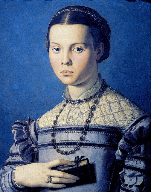 Bronzino - Portrait of a young girl with a prayer book ca.1549
