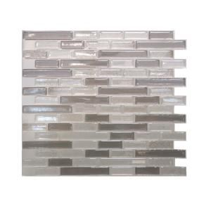 Smart Tiles, 10.25 in. x 9.13 in. Muretto Beige Mosaic Decorative Wall Tile in Brown (12-Pack), SM1055-12 at The Home Depot - Mobile