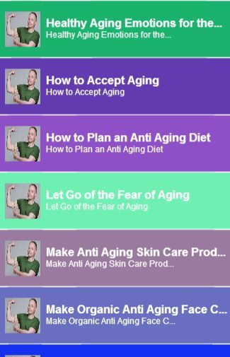 Guide for Healthy Aging<br>In this App you can see this topic.<br>1. Healthy Aging Emotions for the Elderly<br>2. How to Accept Aging<br>3. How to Plan an Anti Aging Diet<br>4. Let Go of the Fear of Aging<br>5. Make Anti Aging Skin Care Products<br>6. Make Organic Anti Aging Face Cream<br>7. Use Anti Aging Serums<br> And you can see the Video and Game<br>keyword : Guide for Healthy Aging  http://Mobogenie.com