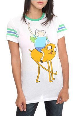 Adventure Time Hangin' Girls T-Shirt, I have this one! But I discolored it :(