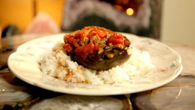 Ablama (Eggplant Casserole served with Rice) Psychic Harry T;s recipe on Come dine with me Australia. A lebanese recipe.
