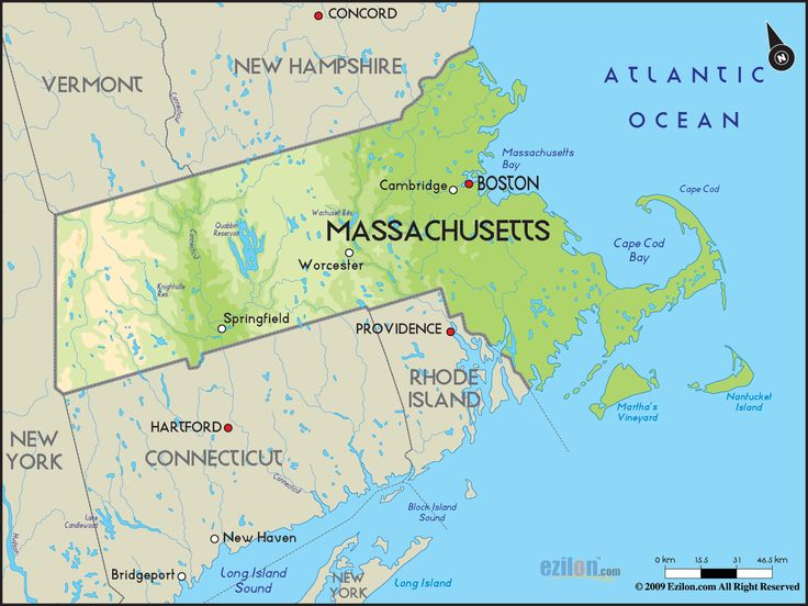 Official General Laws Of Massachusetts For Liens On Selfservice - Massachusetts political map