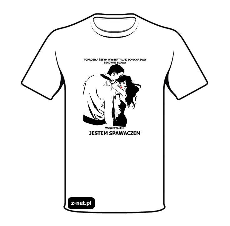 Koszulka z nadrukiem Szepty Spawacza. Dostępna na z-net.pl