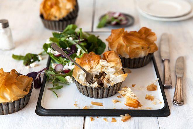 We love this chicken, mushroom and zucchini phyllo pastry pie.