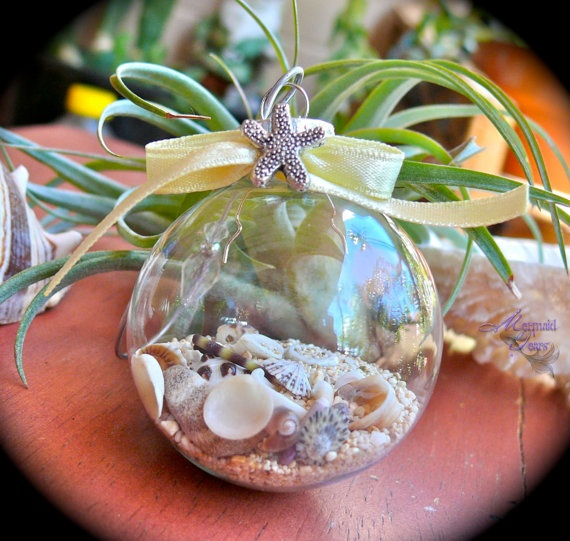 353 best painted christmas ornaments images on pinterest for Seashell ornaments diy