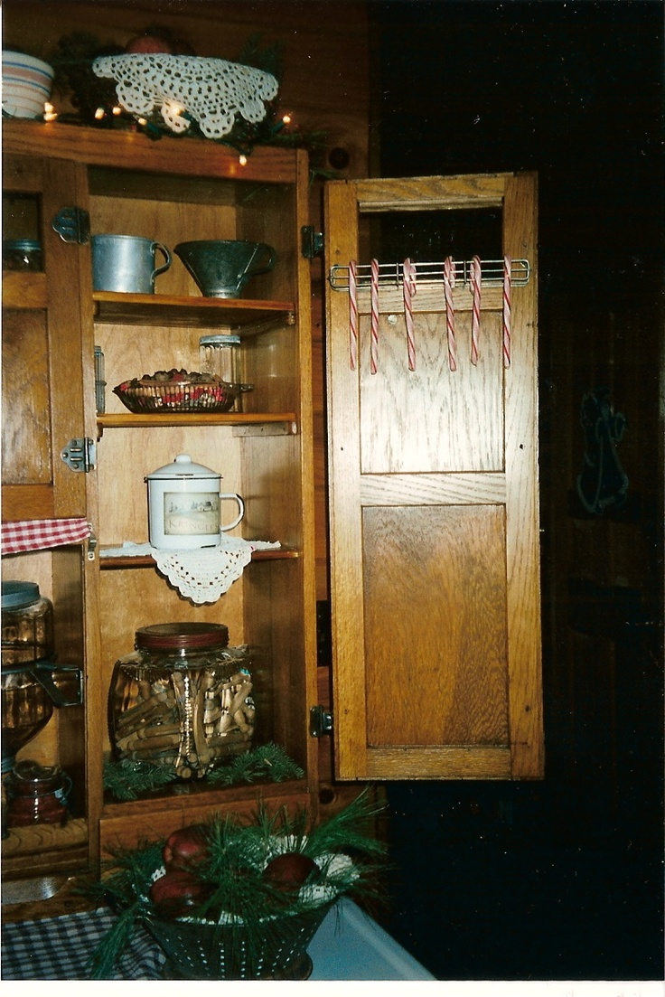 122 best hoosier cabinets images on pinterest hoosier cabinet detail pic of my hoosier at christmas an older christmas 07 or 08